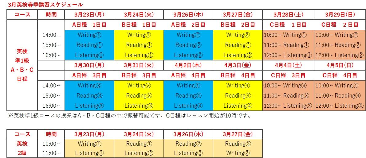 英検®春期講習 渋谷 表参道