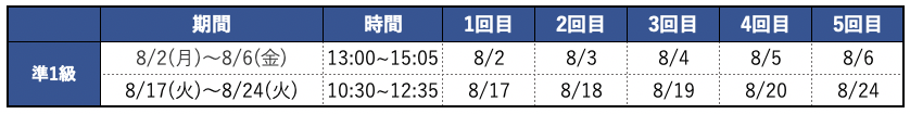 eiken-summer-course-schedule-2021